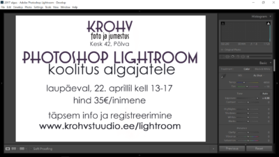 LIGHTROOM koolitus algajatele