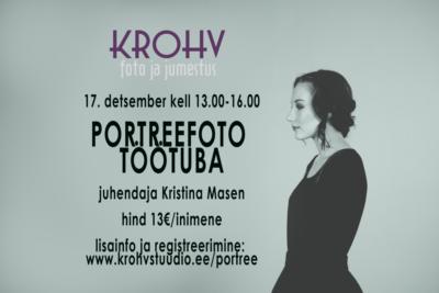 Portreefoto töötuba - KROHV stuudio
